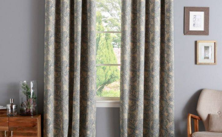 Absorbing Window Panels Curtains Design Showcasing Printed