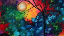 Abstract Landscape Bold Colorful Painting Megan Duncanson