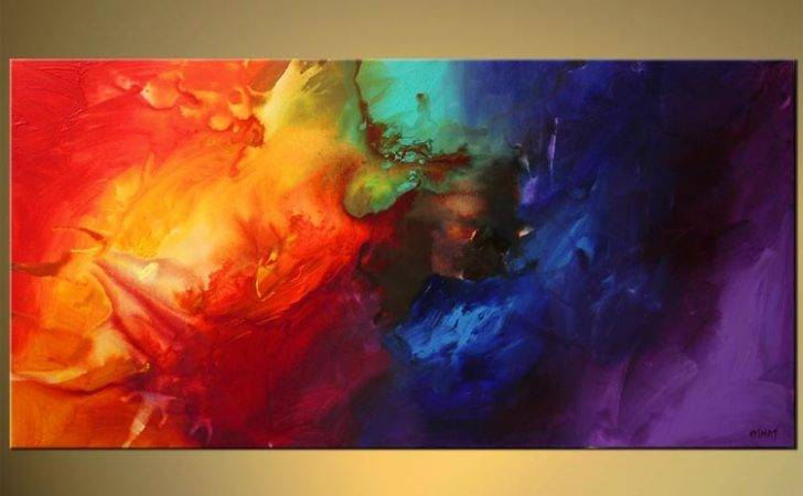 Abstract Painting Bold Colorful Dreams