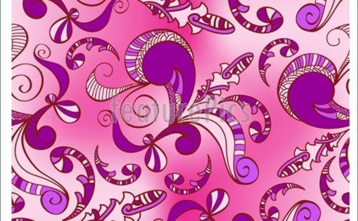 Abstract Patterns Pink Purple Floral Seamless Spring