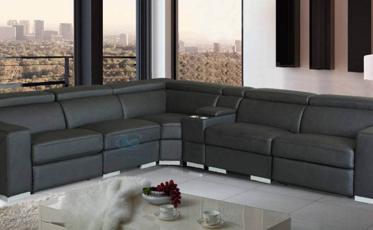 Accent Corner Modular Lounge Leather Lounges