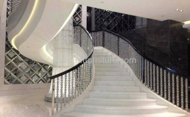 Acrylic Lucite Stairs Handrail Hong Kong Manufacturer