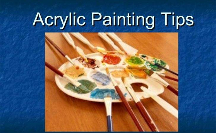 Acrylic Painting Tips General