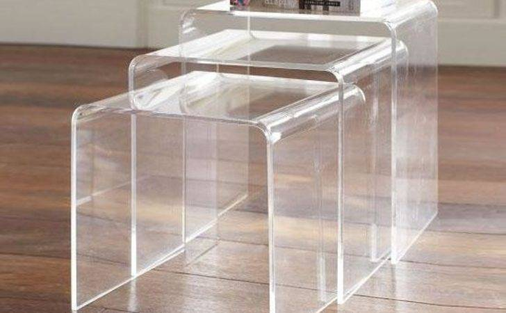 Acrylic Perspex Nesting Tables Side Coffee Table Set