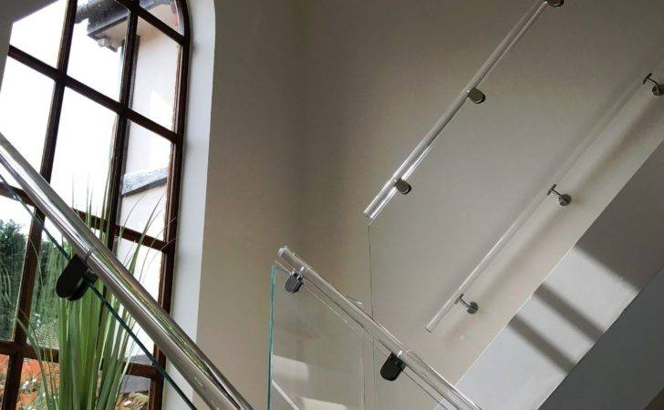 Acrylic Perspex Staircase Hand Rails