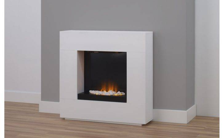 Adam Quebec Electric Fireplace Suite White Inch