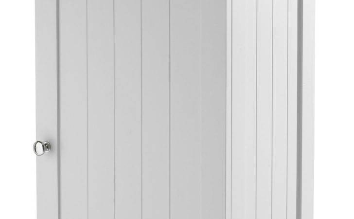 Adelite Tongue Groove Lacquered White Closed Storage
