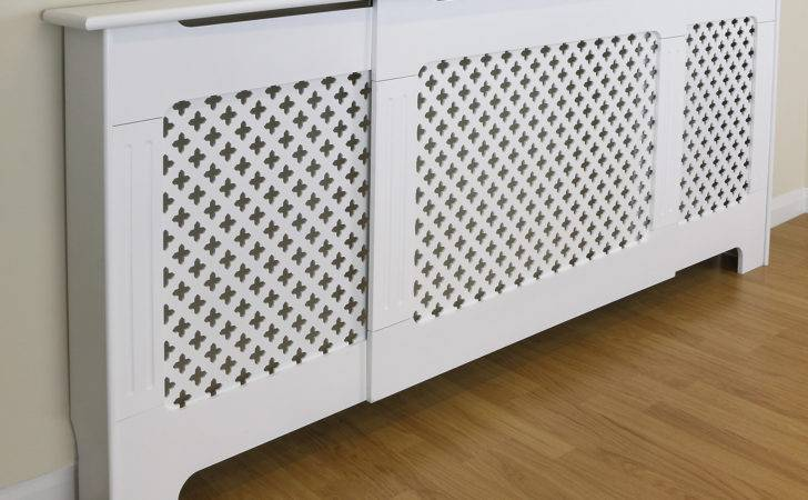 Adjustable White Traditional Classic Radiator Cabinet