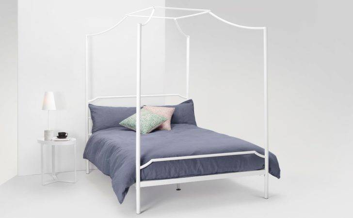 Albany Four Poster Kingsize Bed White Made