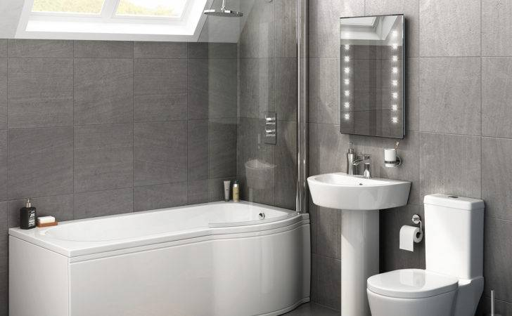 Albi Shaped Right Handed Shower Bath Suite