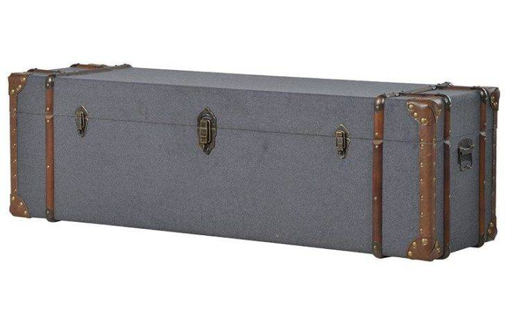Alexi Grey Leather Upholstered Storage Trunk