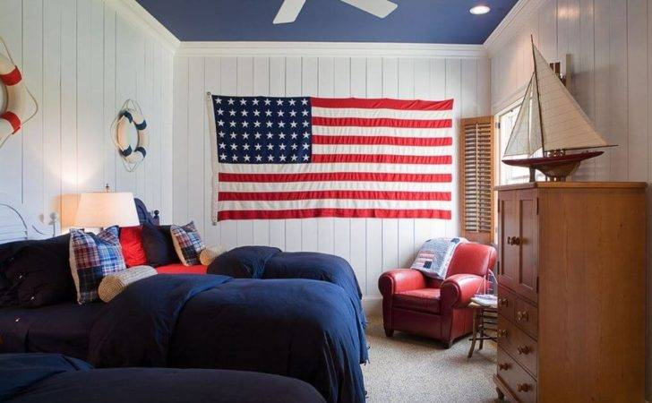 All American Red White Blue Decor