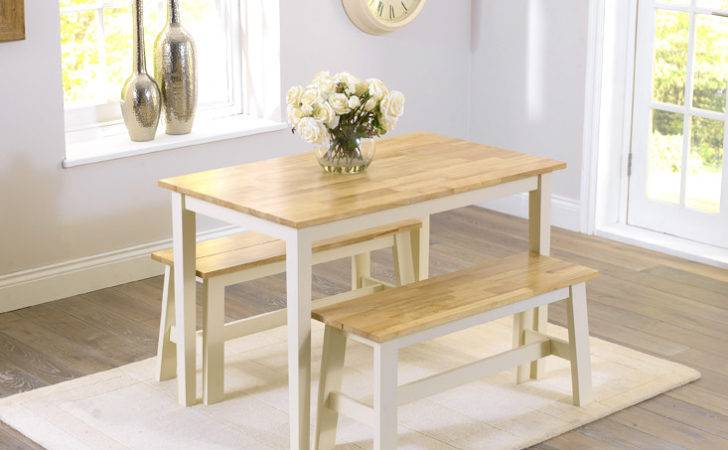 Alluring Oak Bench Dining Table Small Kitchen