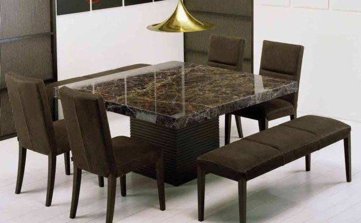 Amazing Brown Stone Dining Table Decosee