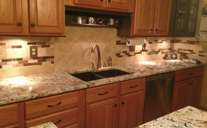 Amazing Kitchen Tile Backsplash Ideas Oak Cabinets
