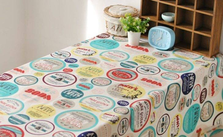 American Country Style Cartoon Characters Linen