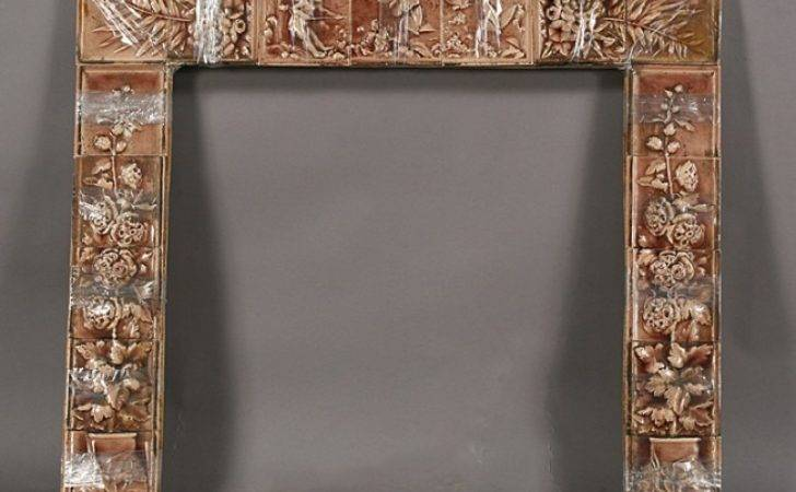 American Victorian Tile Fireplace Surround Lot