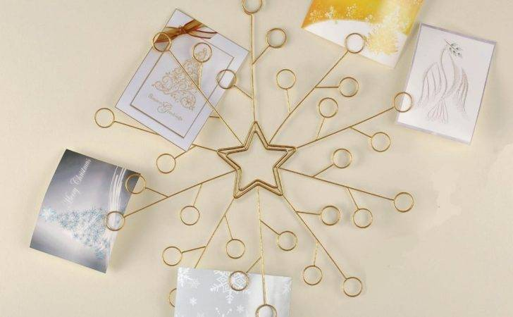 Amscan Snowflake Gold Wire Christmas Card Wall Mounted