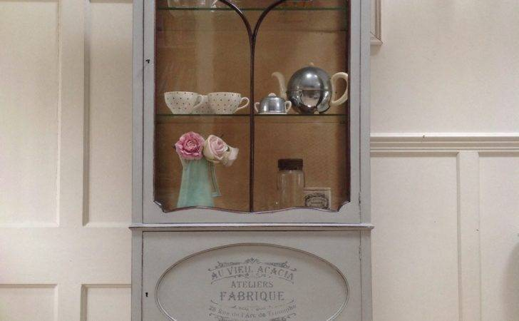 Antique Edwardian Grey Painted French Style Display