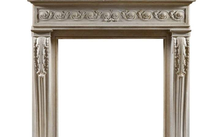 Antique French Century Baroque Style Fireplace Mantel