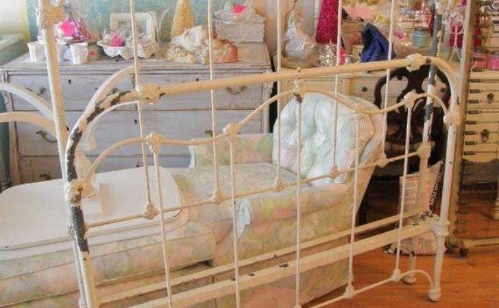 Antique Iron Shabby Chic Bed Frame