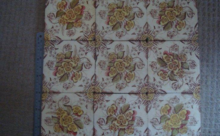 Antique Late Victorian Edwardian Wall Tiles