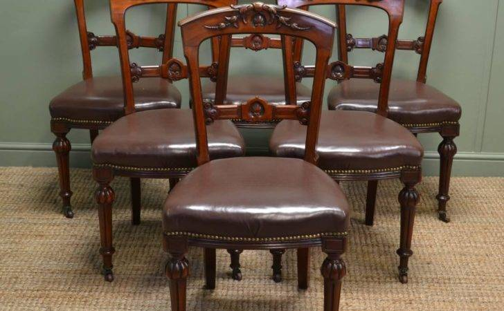 Antique Leather Dining Chairs Decor References
