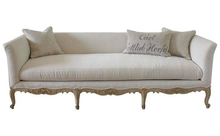 Antique Painted French Country Louis Style Sofa Settee