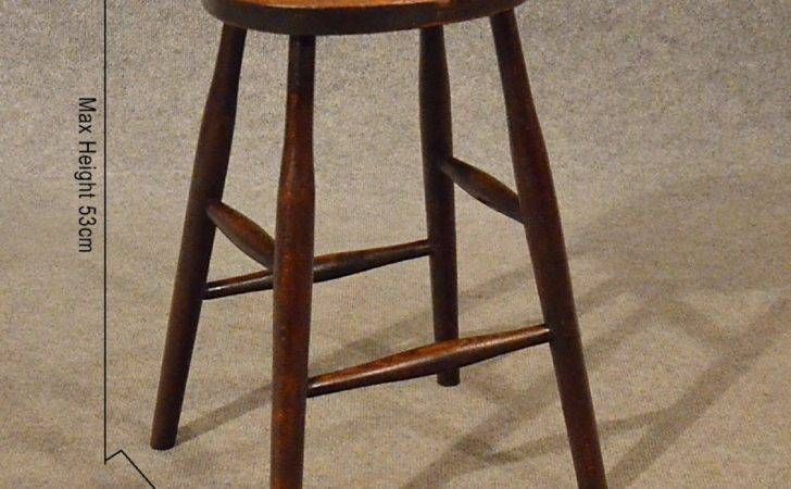 Antique Stool Quality Set English Edwardian Kitchen