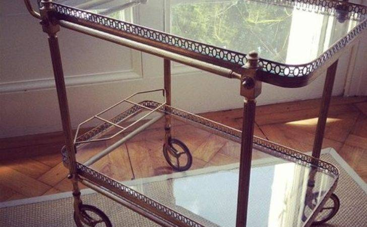 Antiques Atlas French Brass Glass Drinks Trolley