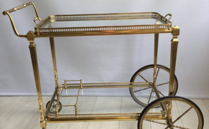 Antiques Atlas Vintage French Brass Drinks Trolley Bar Cart