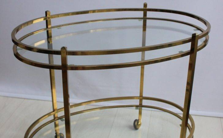 Antiques Atlas Vintage Oval French Brass Drinks Trolley
