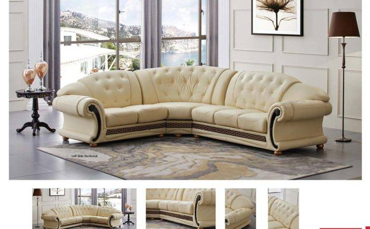 Apolo Sectional Ivory Sectionals Living Room Furniture