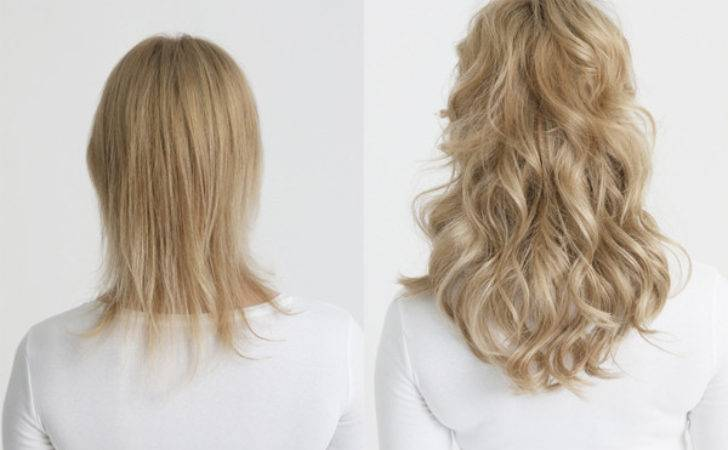Apply Clip Hair Extensions Short Thin