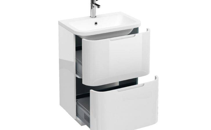 Aqua Compact Two Drawer Floor Standing Vanity Unit