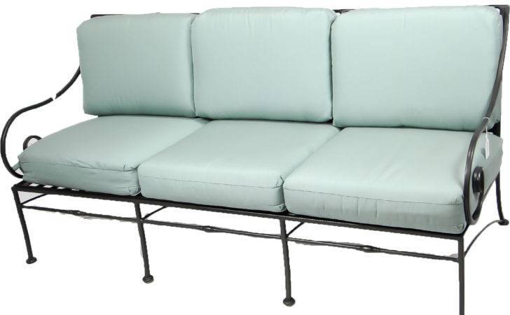 Aqua Wrought Iron Sofa Middlebury Consignment