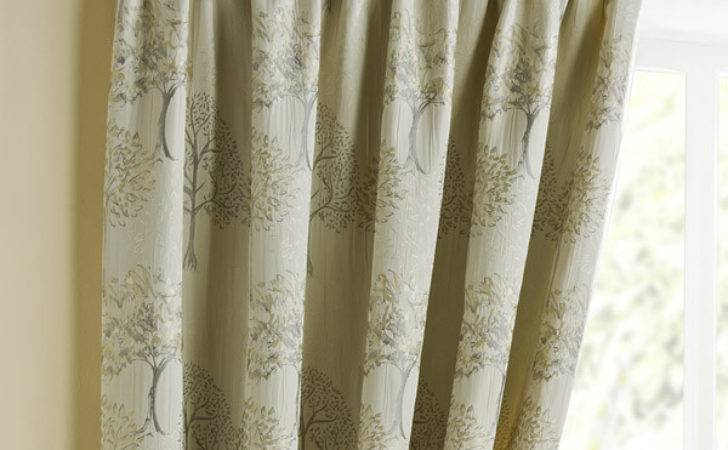 Arden Natural Pencil Pleat Luxury Ready Made Curtains