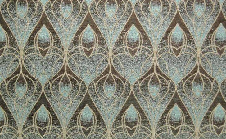 Art Deco Design Curtain Fabric Menzilperde
