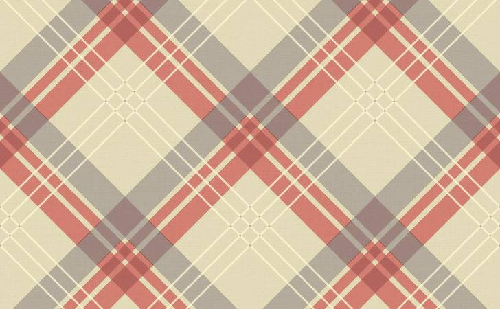 Arthouse Fairburn Tartan Check Coral Taupe
