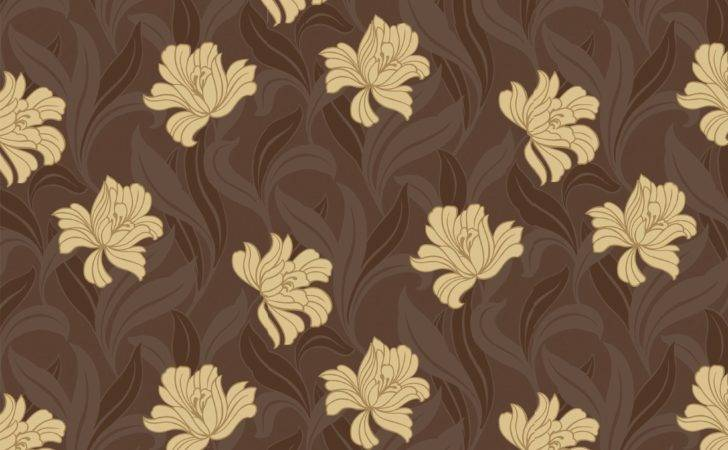 Arthouse Vintage Vogue Chocolate Brown Yellow Floral