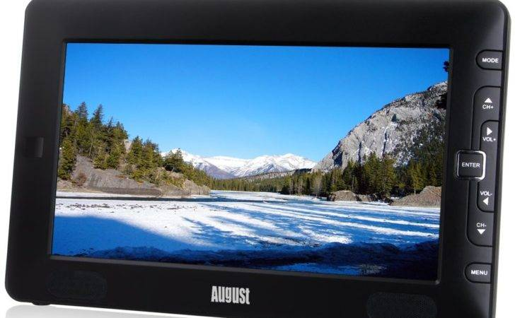 August Dtv Portable Freeview Small Screen Lcd