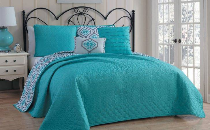 Avondale Manor Palermo Piece Quilt Set King Teal Home