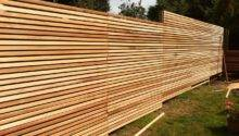 Awesome Wood Material Creating Unique Fence Ideas Designed