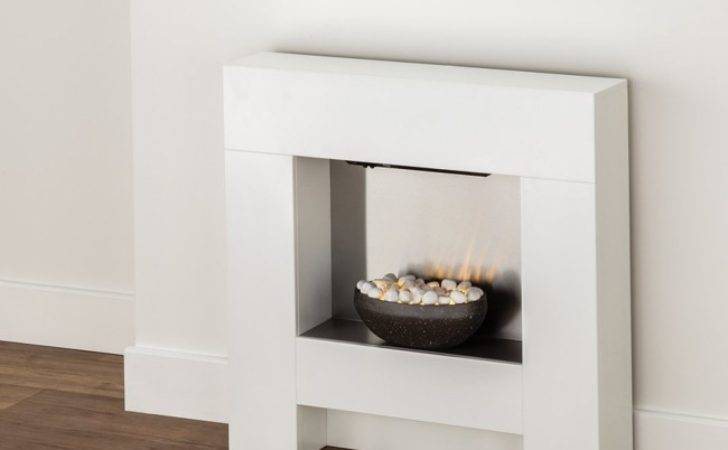 Axon Cubist Electric Fireplace Suite White Direct