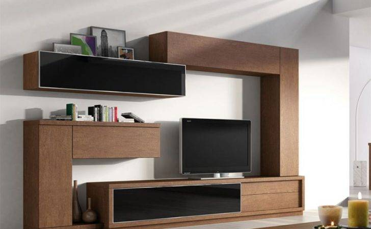 Baixmoduls Contemporary Living Room Wall Storage System