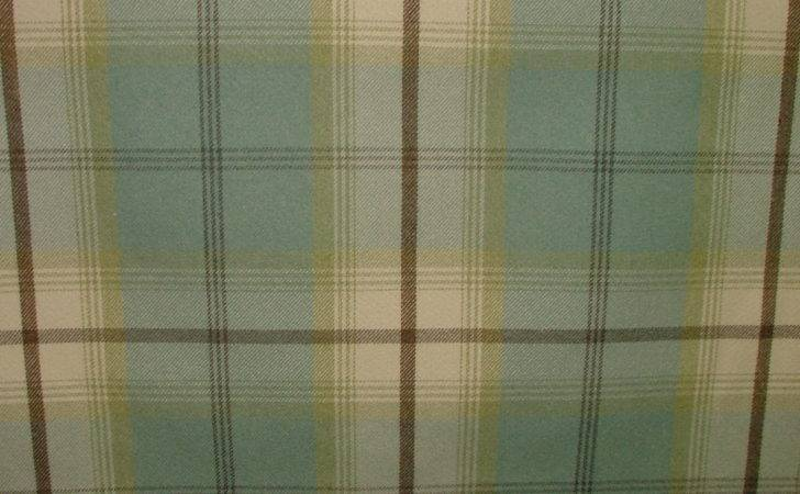 Balmoral Duckegg Wool Effect Washable Thick Tartan Curtain