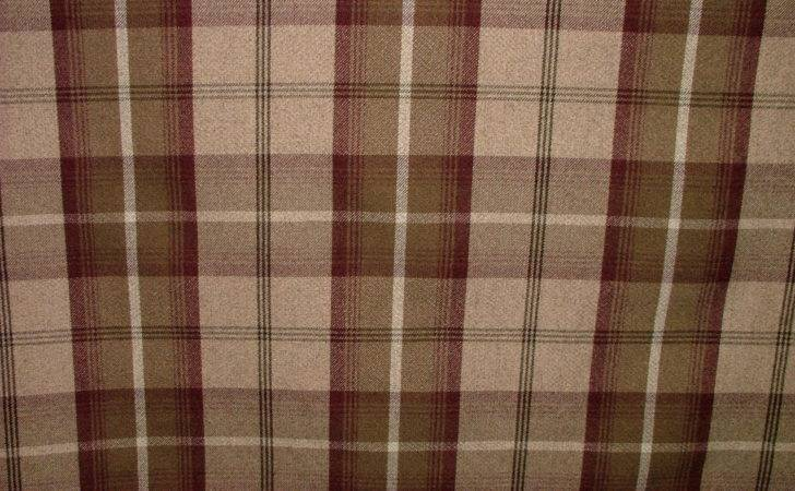 Balmoral Mulberry Wool Effect Washable Thick Tartan