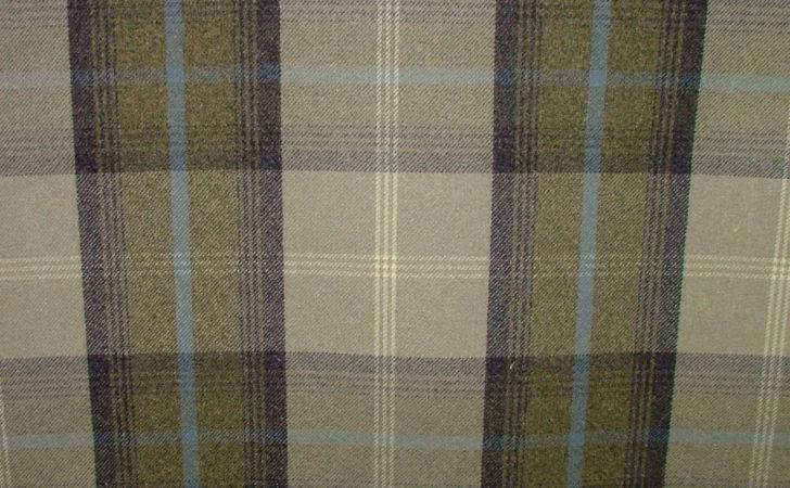 Balmoral Oxford Blue Wool Effect Washable Thick Tartan