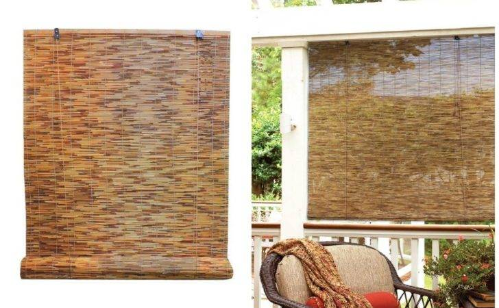 Bamboo Reed Blinds Indoor Outdoor Roll Shade Patio