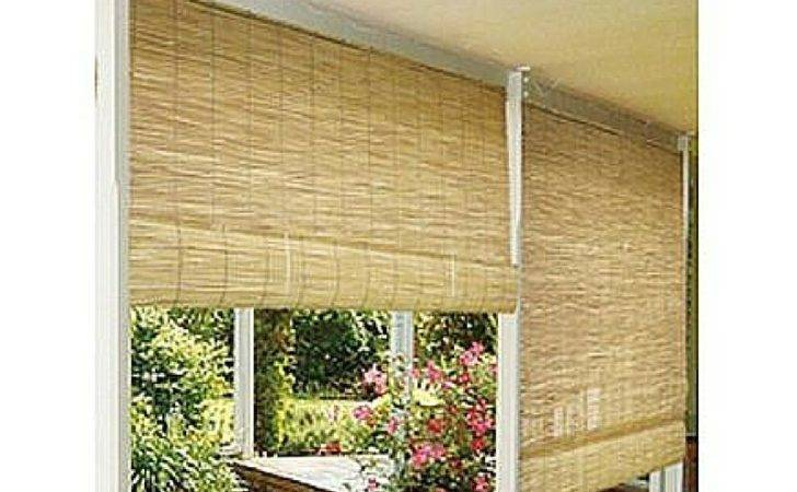 Bamboo Window Blinds Outdoor Roll Roller Reed